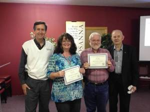 Renee and Robert with John and Chuck @ 11/2014 Workshop