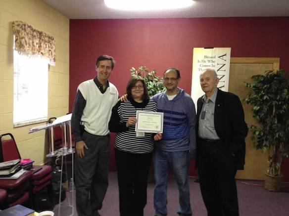 Jose and Marla Barreda with John and Chuck